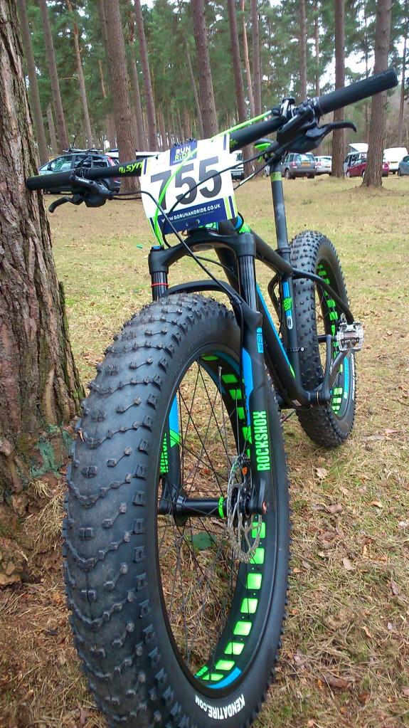 the Scott Big Ed 'race' bike. Not exactly Arse-up Head-down...