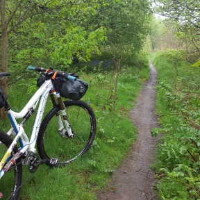 Weekday post-bivvy ride to work